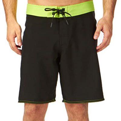 Bañador DC Shoes surfero Hombre Short elástico Trip Hoppin (kbdo) Black Ref. EDYBS00000 negro/amarillo fluor