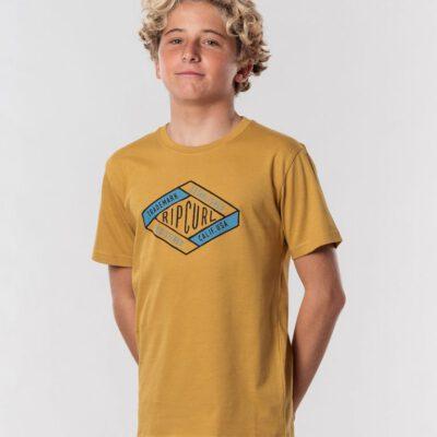 Camiseta RIP CURL manga corta niño surfera D'Ams Short Sleeve Tee Boy Mustard Ref. KTEXT4 amarillo mostaza