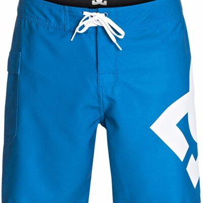 Bañador DC SHOES surfero hombre Short elástico Januari (brto) Ref. ADYBS03015 azul logo pierna blanco