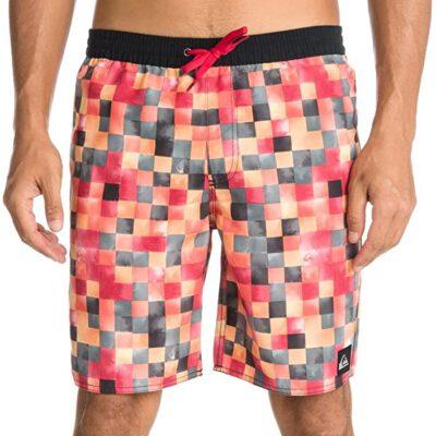 Bañador QUIKSILVER Short elástico para Hombre Swimming Trunks Mini Dye Check Volley E19 red Ref. AQYJV00018 cuadros rojos