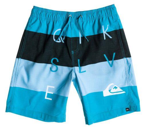 Bañador niño QUIKSILVER Short elástico Letter Press Blue (bmj6) Ref. AQBJV03009 azul/negro logos