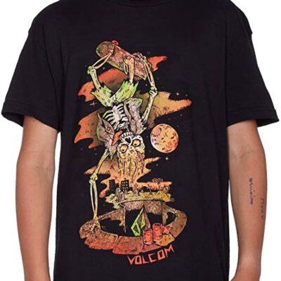 Camiseta VOLCOM manga corta niño surfera Living Shred BSC ss Black Ref. C3511755 negra calavera surfera