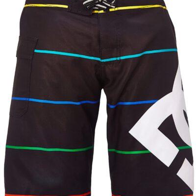 Bañador DC SHOES surfero niño Short elástico Lanai By B (kvj4) Ref. 73810035 negro rayas colores
