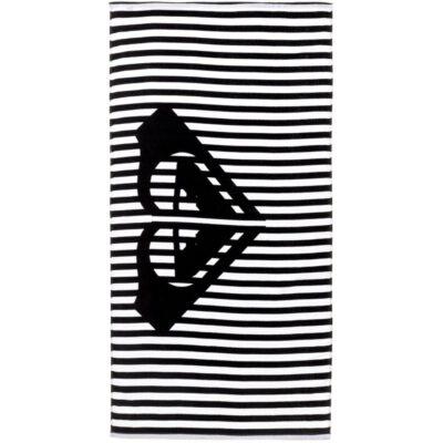 Toalla ROXY playa/piscina estampada suave Pretty Simple Black (kvj0) Ref. ARJAA03077 rayas blancas/negras
