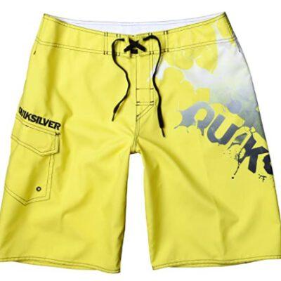 Bañador niño QUIKSILVER Short elástico Jungen Boardshort Big Machine Yelow Ref. KMBBS113 Amarillo/negro logos