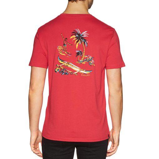 Camiseta RIP CURL hombre manga corta surfera Hawaiian Trip Short Sleeve Bright Red Ref. CTEON5 roja hawaiana