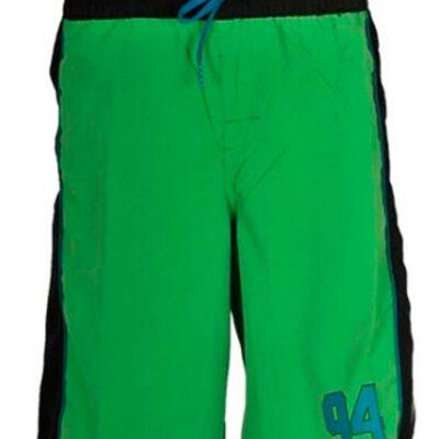 Bañador DC SHOES surfero niño Short elástico TONS (gns0) Ref. EDBBS00011 verde logo pierna lateral