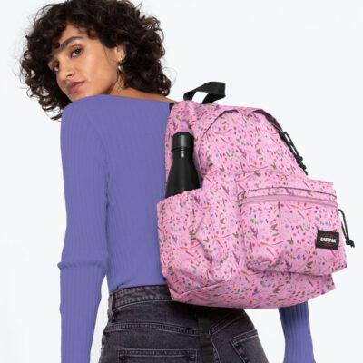 MOCHILA EASTPAK Padded Zippl'r con bolsillo portátil 24l. EK0A5B74K44 Herbs Pink rosa flores minis