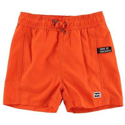 Bañador BILLABONG surfero niño Short elástico Boys' All Day Stripes Layback Orange Ref. N2LB01 naranja chillón