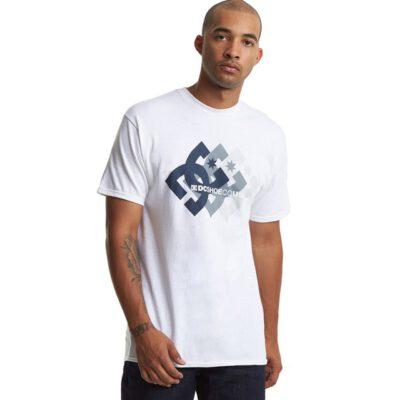 Camiseta DC Shoes surfera para hombre manga corta Logo Ballad Snow White Ref. EDYZT04195 blanca logo 3d pecho