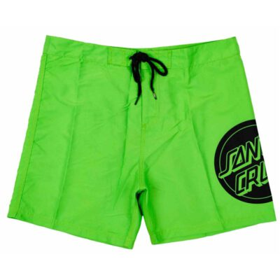 Bañador SANTA CRUZ surfero niño Short elástico Youth Shattered Dot Boardie Grass Green Ref. SCYBSSH verde