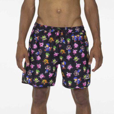 Bañador corto HYDROPONIC para hombre BOARDSHORT 16' PENGUIN VILLAGE Black Slump Ref. 20087 negro Dr. Slump Arale