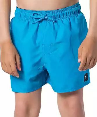 Bañador RIP CURL surfero niño Short elástico Classic Volley Boy blue Ref. KBOGA4 Azul logo pierna