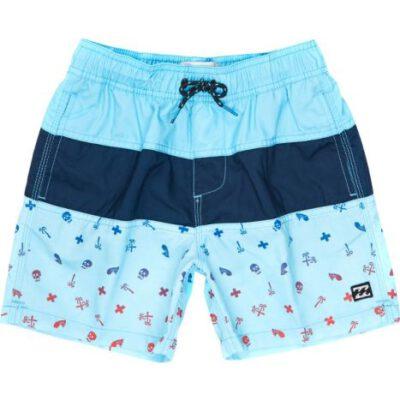 Bañador BILLABONG surfero niño Short elástico Boys Tribong Printed Aqua Ref. C2LB06 azul palmeras