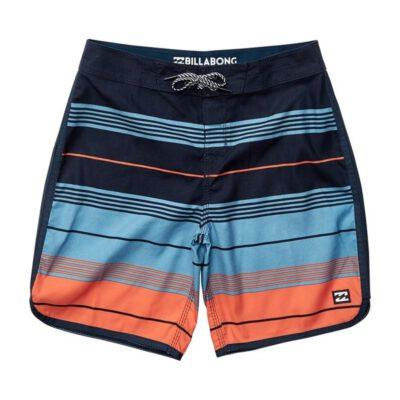 Bañador BILLABONG surfero niño Short elástico Stripe OG Orange Ref. N2BS07 Azul/naranja rayas