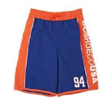 Bañador DC SHOES surfero niño Short elástico TONS 94 (gns0) Ref. EDBBS00011 azul/naranja logo pierna lateral