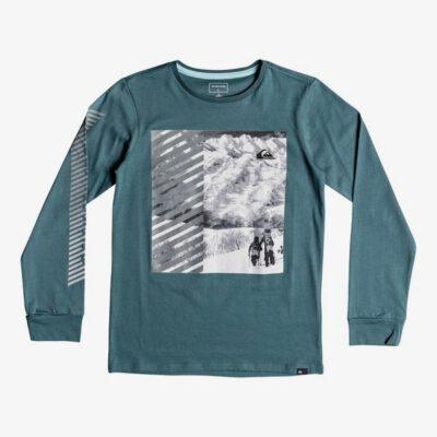 Camiseta QUIKSILVER manga larga niño surfera Under Water TAPESTRY (bph0) Ref. EQBZT03792 verde logo pecho
