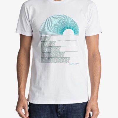 Camiseta QUIKSILVER manga corta algodón orgánico para Hombre Sust East Morning Glide WHITE (wbb0) Ref. EQYZT04550 blanca