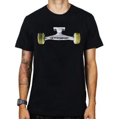 Camiseta INDEPENDENT manga corta Skate niño Ground Down Black Ref. IYTSG negra