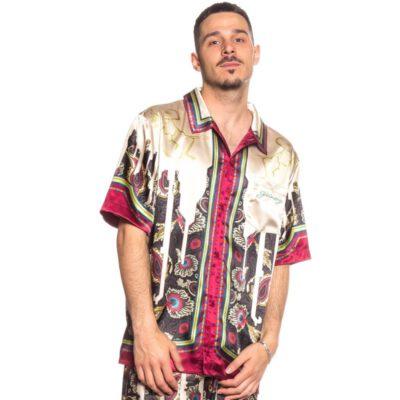 "Camisa GRIMEY manga corta unisex ""Hope Unseen all over print button up shirt"" - White Ref. GSH113-SS21-O2 estampada"
