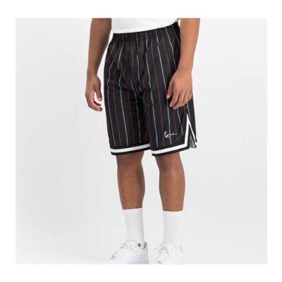 Pantalones cortos KARL KANI de malla unisex MALL SIGNATURE PINSTRIPE Ref. KKMQ12150RED rojo/negro rayas
