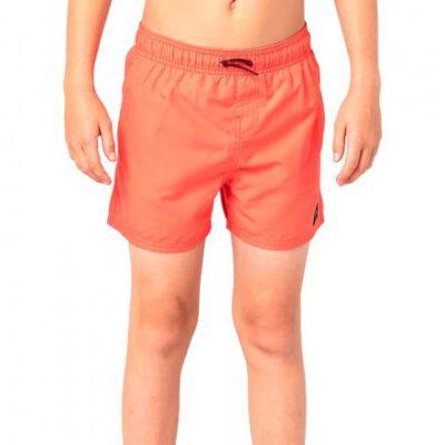Bañador RIP CURL surfero niño Short elástico Classic Volley Boy Orange Ref. KBOGA4 Naranja logo pierna