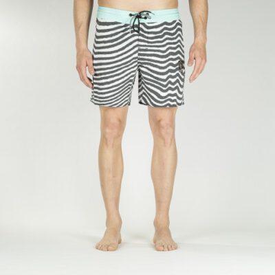 Bañador VOLCOM corto para Hombre Mag Vibes Stoney 16 Boardshort Paq Ref. A0811808 rayas negro/blanco/azul