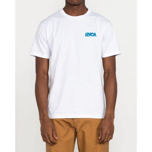 Camiseta Hombre RVCA manga corta ROBERTO RODRIGUEZ REDONDO Ref. U1SSSORVF0 blanca