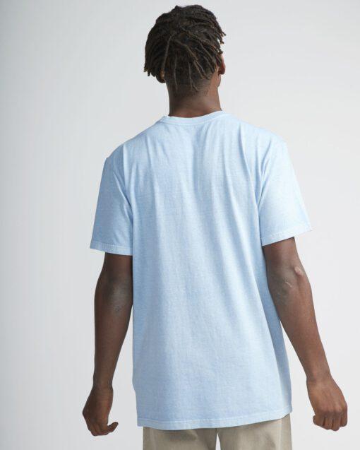 Camiseta Hombre RVCA manga corta t-shirt BIG RVCA Ss Ref. N1 SSRK RVP9 Ether blue azul logo pecho