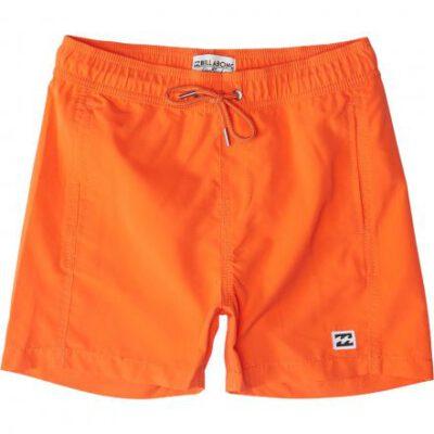 Bañador BILLABONG surfero niño Short elástico Boys' All Day Stripes Layback Orange Ref. H2LB08 naranja chillón