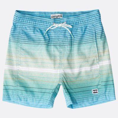 Bañador BILLABONG surfero niño Short elástico Boys' All Day Stripes Layback Mint Ref. N2LB05 azul agua