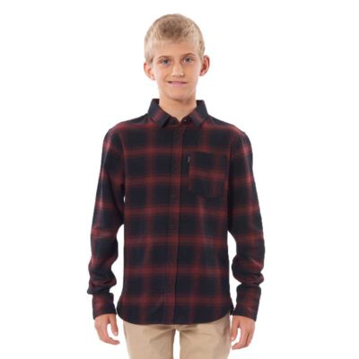 Camisa de Manga Larga Niño Rip Curl Flanela Check This Long Sleeve Shirt Boy Ref. KSHDW9 cuadros granate