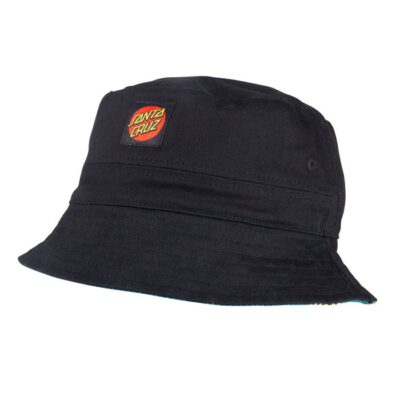 Sombrero SANTA CRUZ gorro de copa REVERSIBLE Sunflowers Bucket Hat Black/Sunflower Print Ref. SCA-HAT-0003 Negro/Estampado girasol