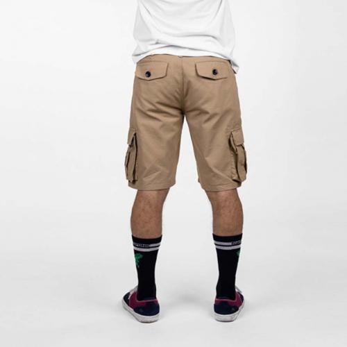 Bermuda corta HYDROPONIC Short bolsillos laterales para Hombre CLOVER RS Camel Ref. P2802-02 camel/beig