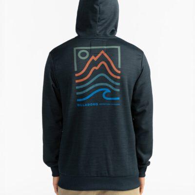 Sudadera BILLABONG para hombre con capucha Adventure Division Collection Peak Black Ref. U1HO08 negra