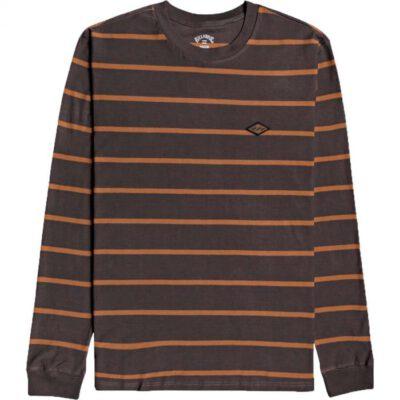 Camiseta BILLABONG hombre manga larga cuello redondo Die Cut Raven Ref. U1JE11 marrón rayas