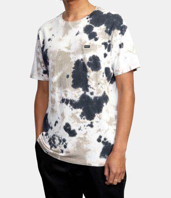 Camiseta RVCA Hombre manga corta bolsillo pecho MANIC PALE MAUVE TIE DYE Ref. W1KTRFRVP1 Púrpura pálida degradada