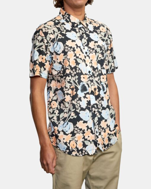 Camisa RVCA Manga Corta Hombre PRESSURE DROP PIRATE BLACK (3837) Ref. W1SHRORVP1 Estampado floral multicolor
