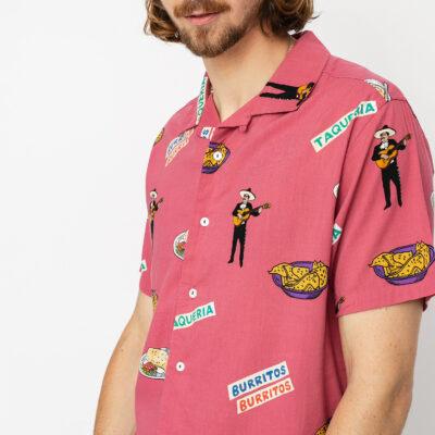 Camisa RVCA Manga Corta Hombre HOT FUDGE SS 46/Pink Ref. S1SHRJ Estampado mejicano