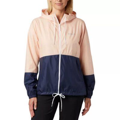 Chaqueta chubasquero COLUMBIA con capucha y aislamiento para Mujer Flash Forward™ Ref. 1585911870 rosa palo/marino