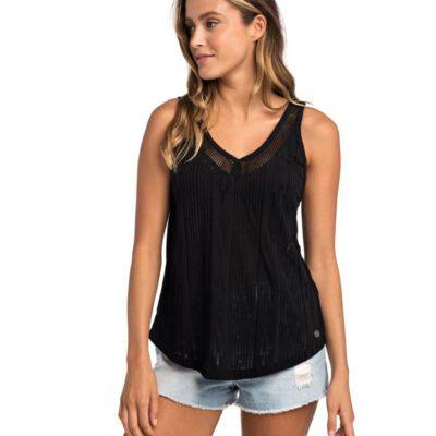 Camiseta transpirable RIP CURL tirantes para mujer MOONTIDE TANK Black Ref. GTEUF4 negra