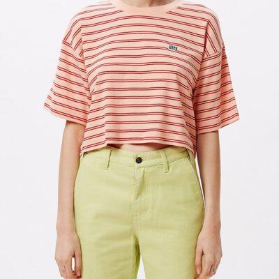 Camiseta manga corta OBEY chica Gazer Box Top Ref. 231080091 Rayada Peach Multi naranja rayada