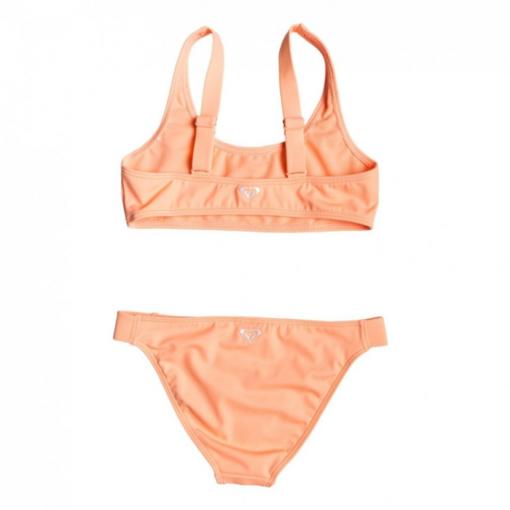 Conjunto de Bikini ROXY dos piezas niña Crop Top Surfing Free (mfg0) Ref. ERGX203186 naranja