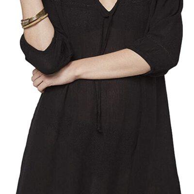 Vestido Kimono O'NEILL playero manga 3/4 Boho beach Cover Up Black Ref. 0A8908 negro