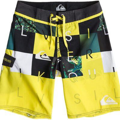 Bañador niño QUIKSILVER Short elástico Checkmate Youth 17 yelow Ref. AQBBS03043 Amarillo/negro logos