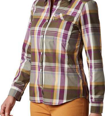 Camisa COLUMBIA de manga larga para mujer Silver Ridge™ 2.0 Plaid Long Ref. 1841803580 morada cuadros