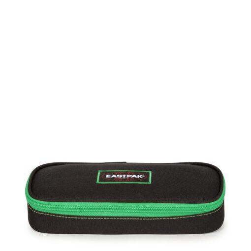 Estuche escolar Eastpak: PLUMIER OVAL EK717K33 Kontrast Clover negro/verde contraste