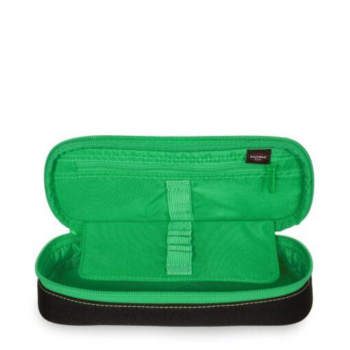 Estuche escolar Eastpak: PLUMIER OVAL EK717K34 Kontrast Clover negro/verde contraste