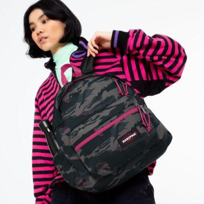 MOCHILA EASTPAK Padded Zippl'r con bolsillo portátil 24l. EK0A5B74K83 + Outline Escape camuflaje negra/rosa