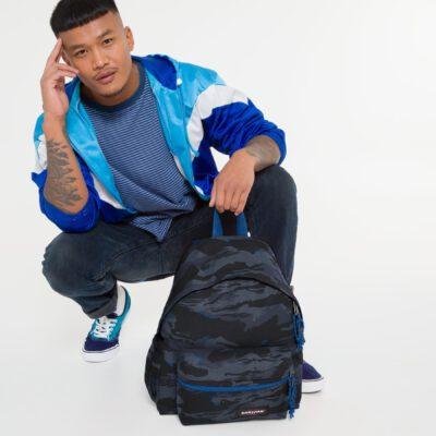 MOCHILA EASTPAK Padded Zippl'r con bolsillo portátil 24l. EK0A5B74K84 + Outline Mysty camuflaje negra/azul
